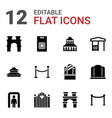 gate icons vector image vector image