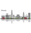 hanoi vietnam city skyline with gray buildings vector image