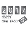 Happy New Year Numeric scoreboard set on white vector image