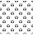 headphones pattern seamless vector image vector image