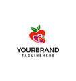 heart fruit logo design concept template vector image vector image