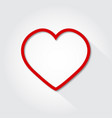 icon heart flat on a gray background vector image vector image