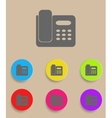 Icon of phone isolated on Colourful background vector image