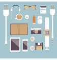 Im fond of gadgets set Flat business vector image