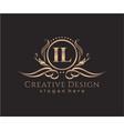 initial il beauty monogram and elegant logo design vector image vector image