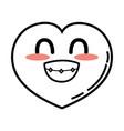 kawaii cute funny heart love vector image