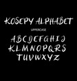 kosepy uppercase alphabet typography vector image vector image