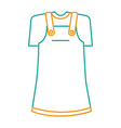 little girl clothes isolated icon vector image vector image