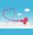 love and valentines day theme background plane vector image vector image