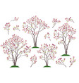 magnolia trees and branches vector image