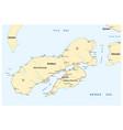 map indonesian island ambon vector image vector image