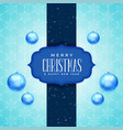 merry christmas and new year greeting card design vector image vector image