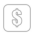 money cash symbol vector image