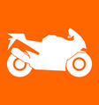motorcycle white icon vector image vector image