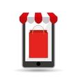 online shopping bag gift design vector image vector image