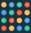 optimization icons line style set with customer vector image