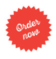 order now stamp on white vector image