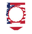 pennant with flag of united states vector image