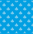 pizza tomato pattern seamless blue vector image vector image
