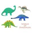 Prehistoric or jurassic dinosaurs dino vector image