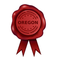 Product Of Oregon Wax Seal vector image vector image