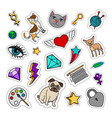 quirky fashion patches set vector image vector image