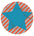 rakes over blue star vector image
