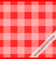 red tablecloth vector image