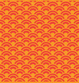 red wave seamless pattern vector image vector image
