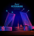 saint petersburg night view from neva river vector image