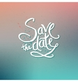 Save the Date Concept on Abstract Background vector image vector image