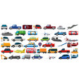set transportation vehicle vector image vector image
