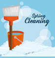 spring cleaning design vector image
