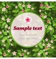Spring flower green card with frame for text vector image vector image