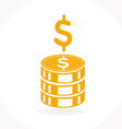 Stack of golden coins icon vector image vector image