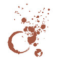 stain from a cup of coffee vector image