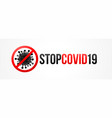 stop coronavirus banner vector image vector image