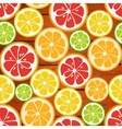 Striped seamless pattern with lime orange and vector image vector image