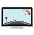 television advertisement kill your speed vector image vector image