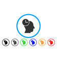 time thinking rounded icon vector image vector image