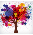 tree with branches vector image vector image