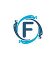 water clean service abbreviation letter f vector image vector image