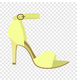 woman sandal icon flat style vector image vector image