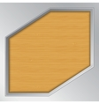 Wood background with metallic frame vector image