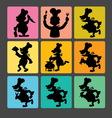 Chef Silhouette Symbols 1 vector image