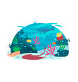 marine underwater world vector image