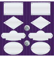 Silver nameplate set vector image