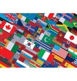 World Flag Background Ready for Your Text Design vector image