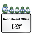 ARMY RECRUITMENT vector image
