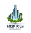City and nature logo icon emblem template business vector image